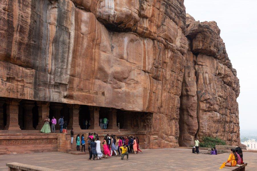Grottes à Badami, Karnataka, Inde