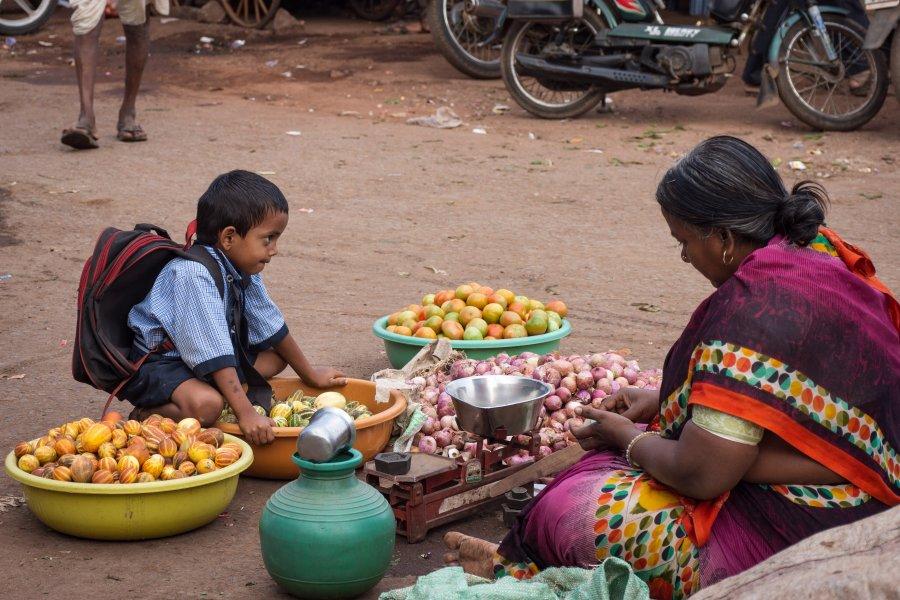 Marché de Badami en Inde