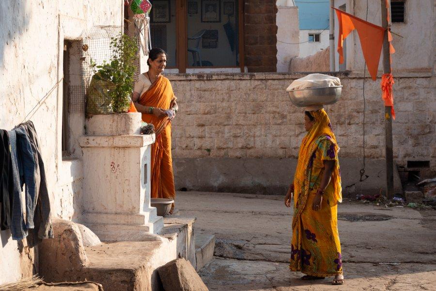 Ville de Badami, Karnataka, Inde