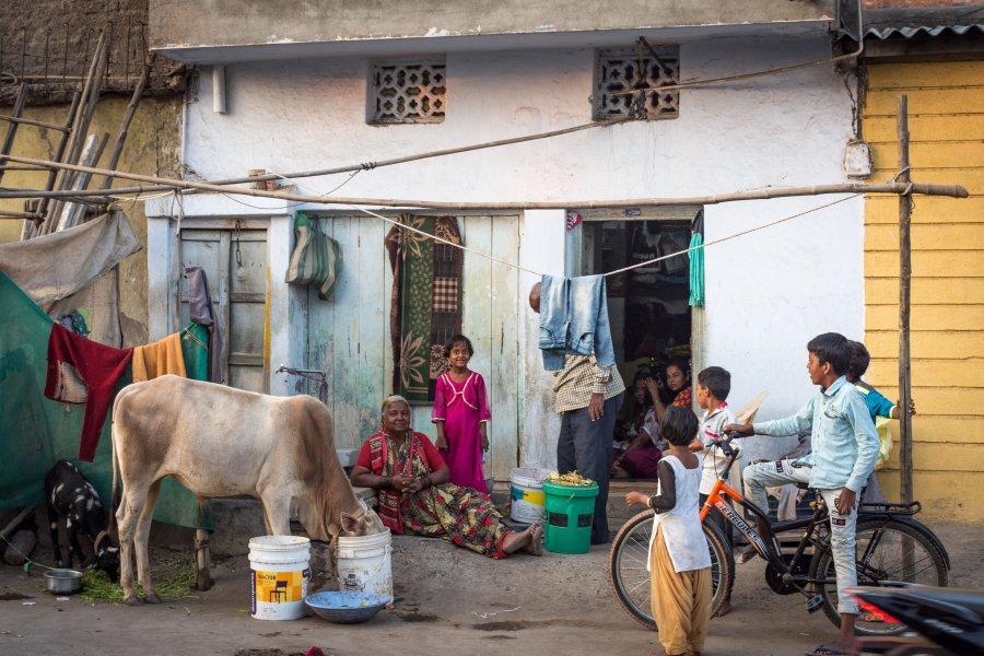 Slums de Bijapur, Karnataka, Inde