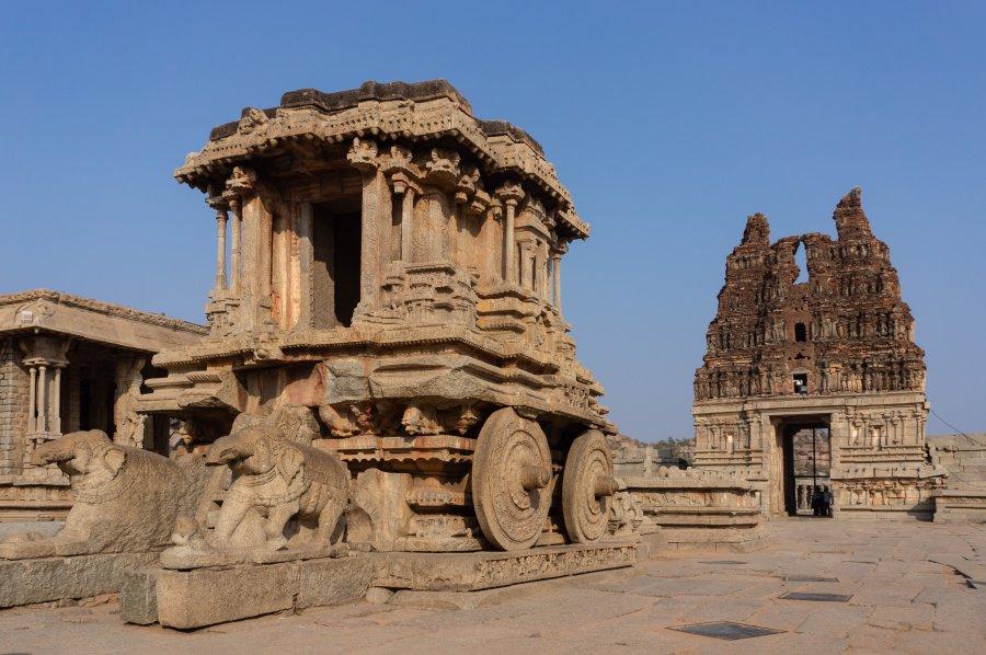 Ratha de charriot au temple Vittala, Hampi