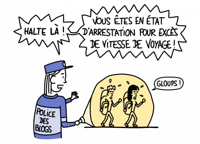 Dessin : Police des blogs, vous êtes en état d'arrestation !
