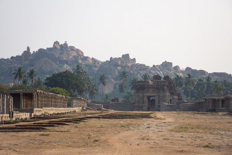 Paysages d'Hampi en Inde