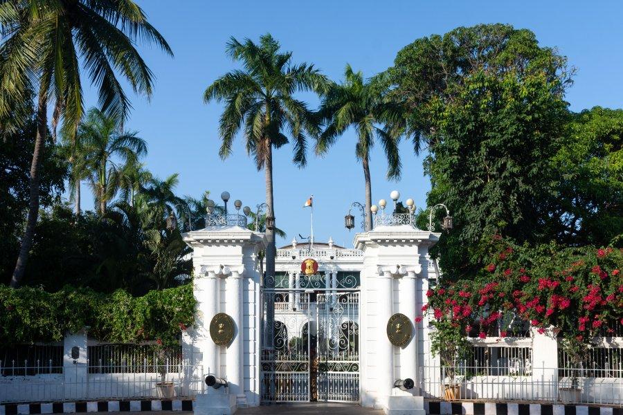 Bâtiment colonial à Pondichéry, Inde