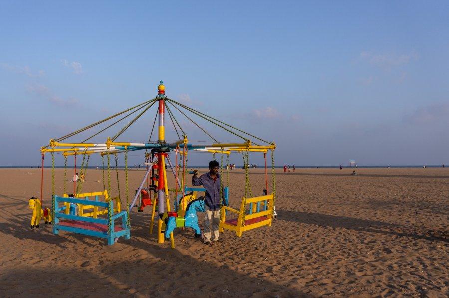 Plage Marina à Chennai en Inde