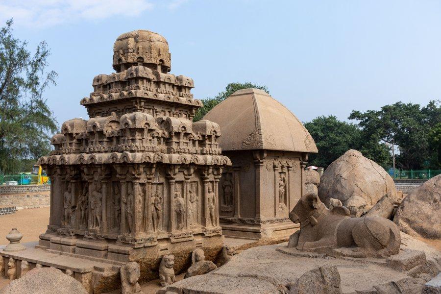 Cinq ratha, temples à Mahabalipuram