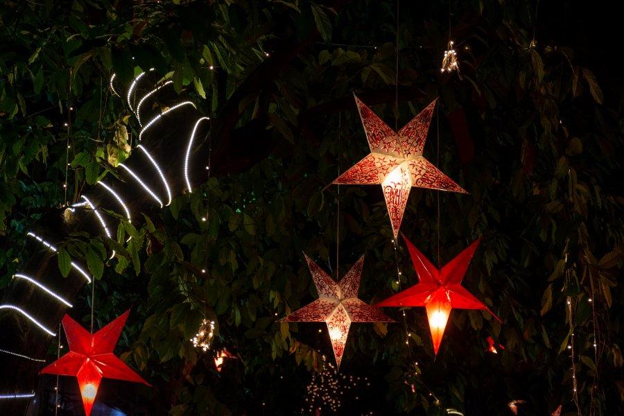 Etoiles de Noël dans le Tamil Nadu, Inde