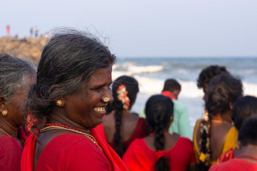 Femme hindoue à Mahabalipuram, Inde