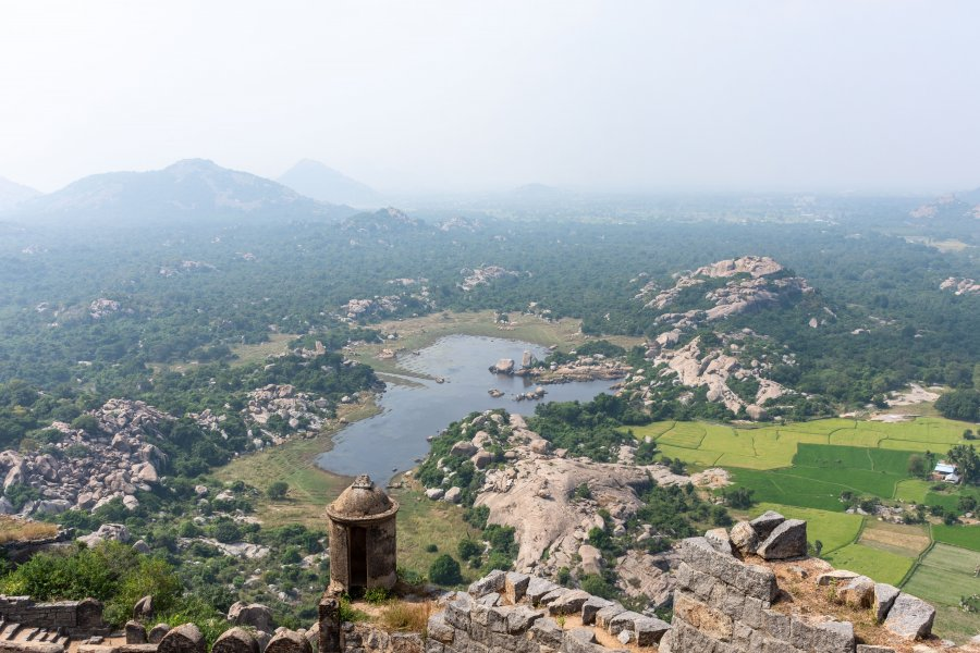 Panorama depuis le Fort de Gingee, Inde