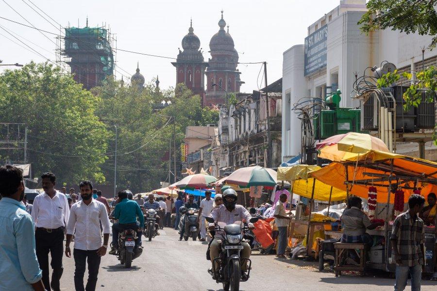 George Town à Chennai, Tamil Nadu, Inde