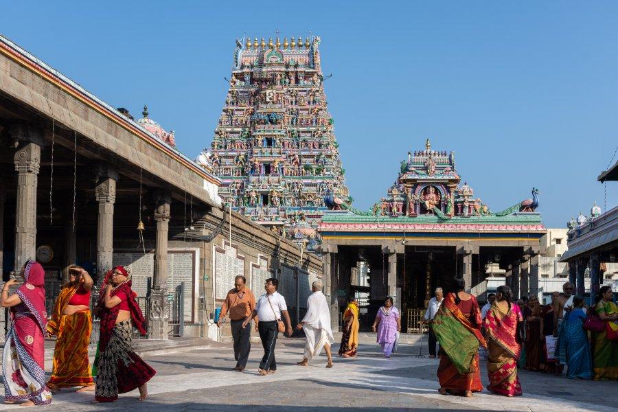 Temple Kapaleeshwarar à Chennai, Inde