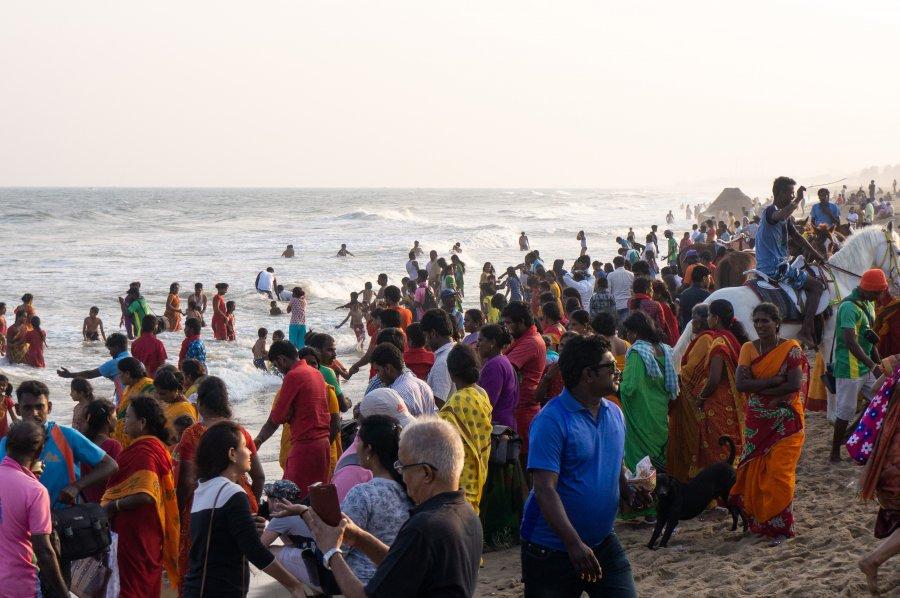 Plage de Mamallapuram, Inde
