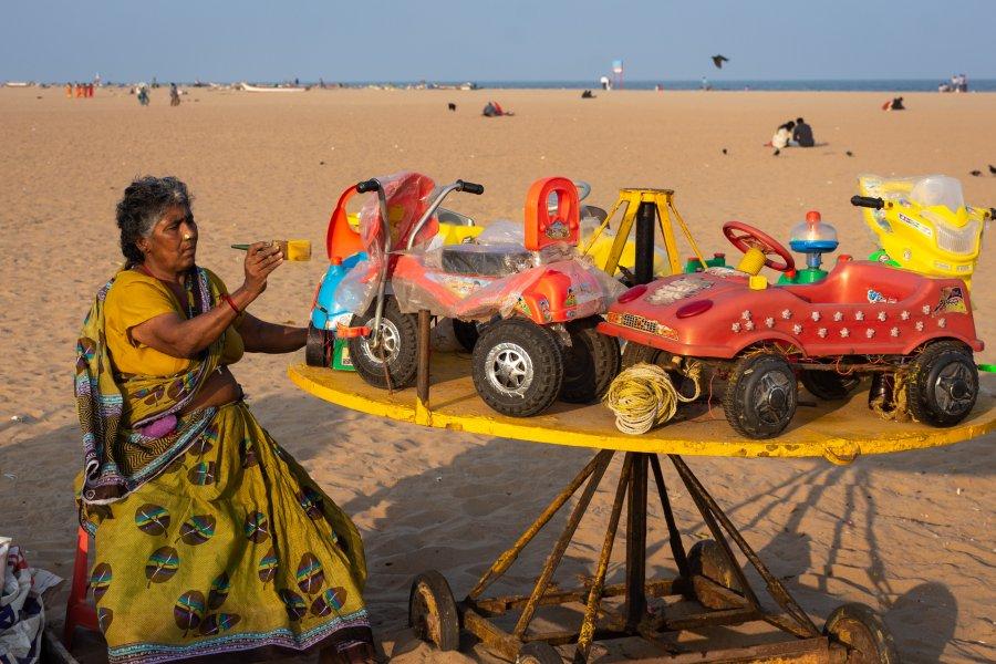 Manège pour enfants à Marina Beach, Chennai