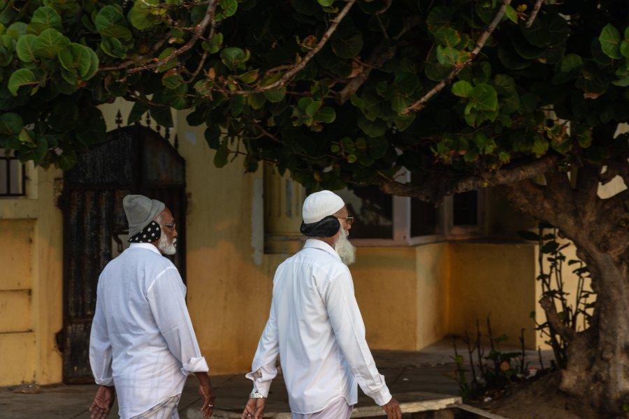 Marche rapide à Pondicherry, Inde