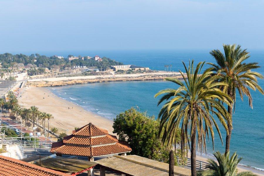 Plage du miracle à Tarragone, Espagne