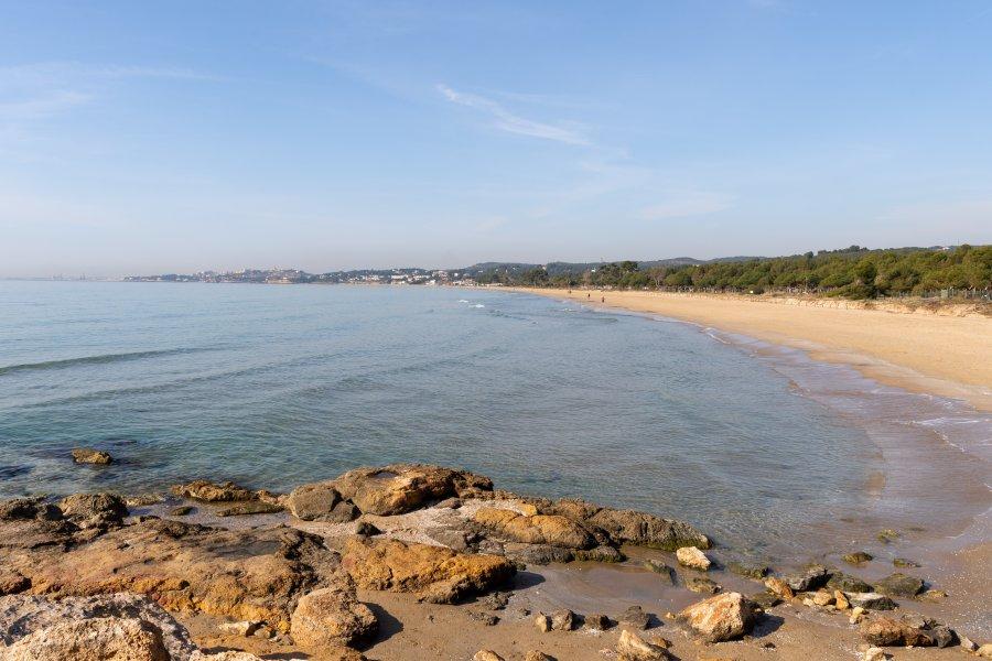 Plage à Tarragone, Costa Daurada, Espagne