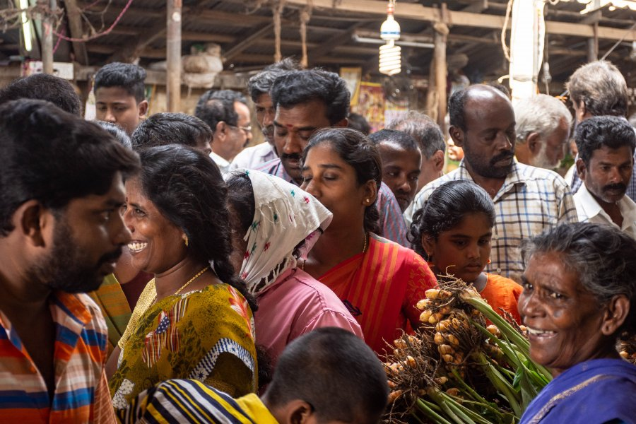 Goubert market, Pondichéry, Inde