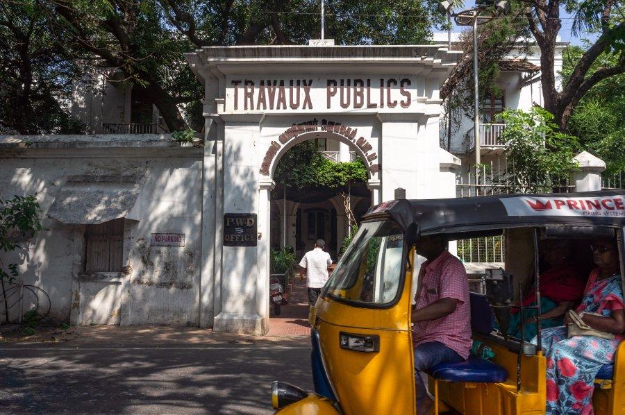 Quartier français de Pondichéry, Inde