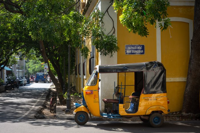 Rickshaw à Pondichéry, Inde
