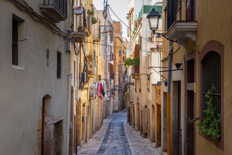 Rue de Tarragone en Espagne