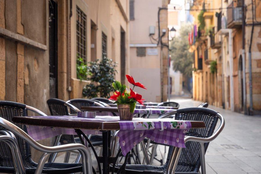 Terrasse à Tarragone en Espagne