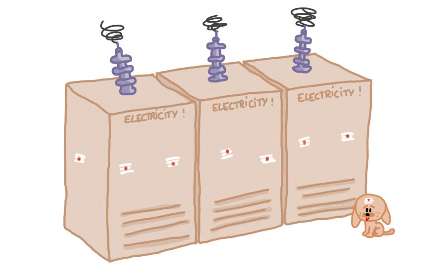 Dessin: transformateur électrique béni en Inde