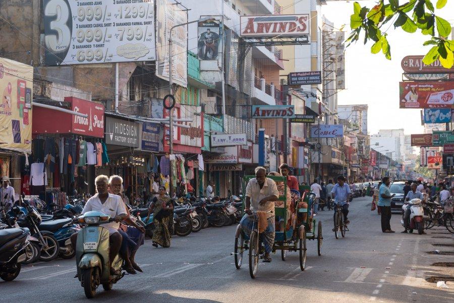 Ville de Pondichéry en Inde