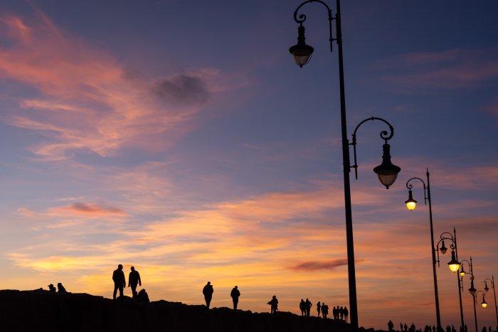 Coucher de soleil à Asilah au Maroc