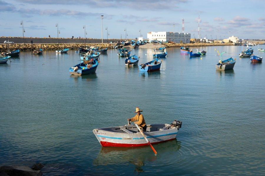 Barque au port d'Asilah, Maroc