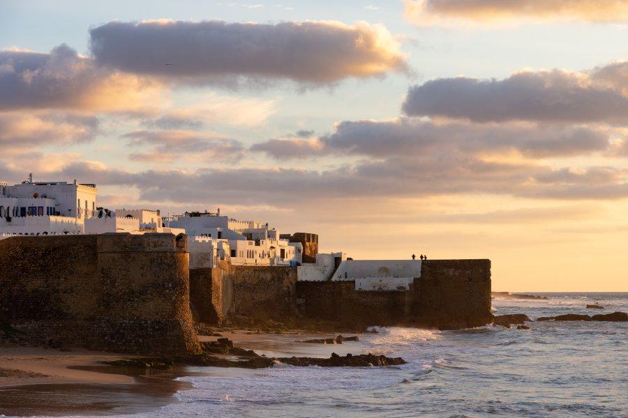 Coucher de soleil à Asilah, Maroc
