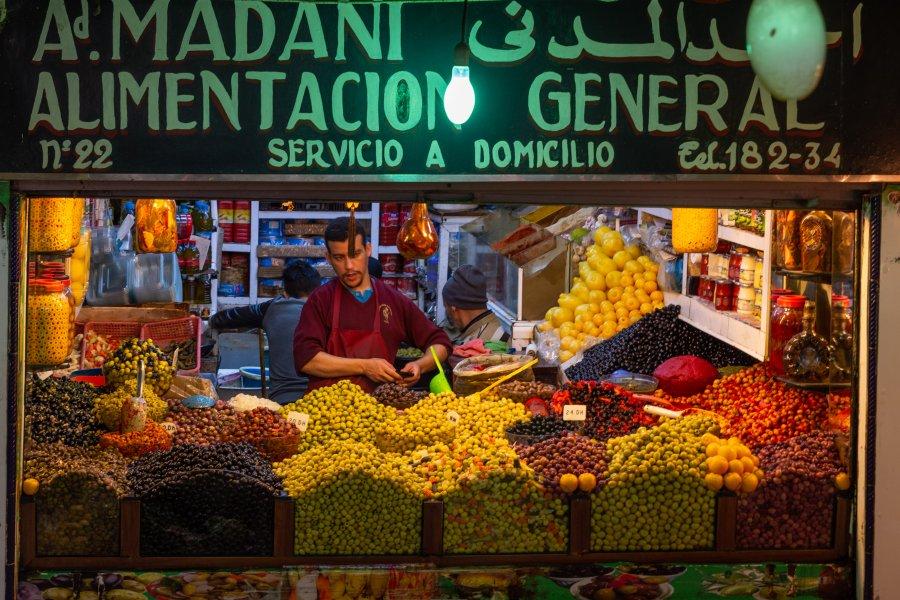 Marché de Tanger au Maroc