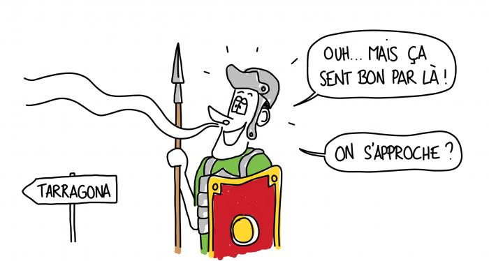 Dessin les Romains sont attirés en Espagne par le fumet