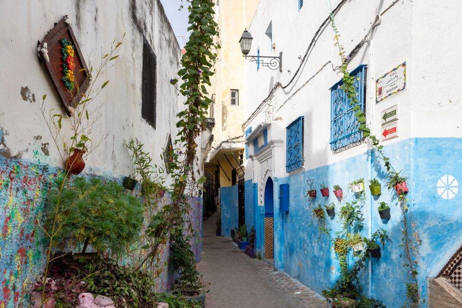 Ruelle de la médina de Tanger, Maroc