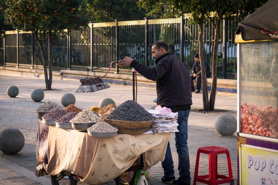 Vendeur à Asilah, Maroc