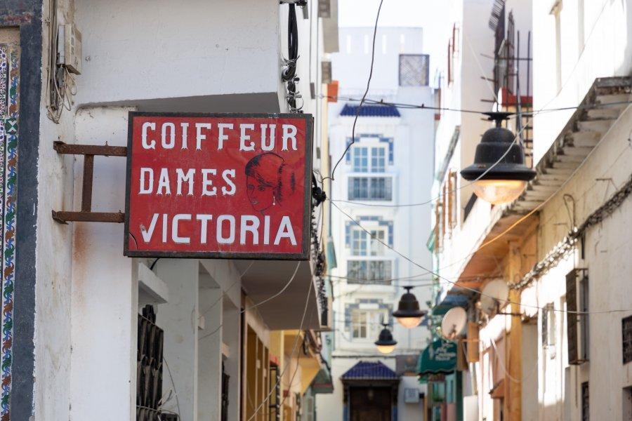 Vieux coiffeur à Tanger