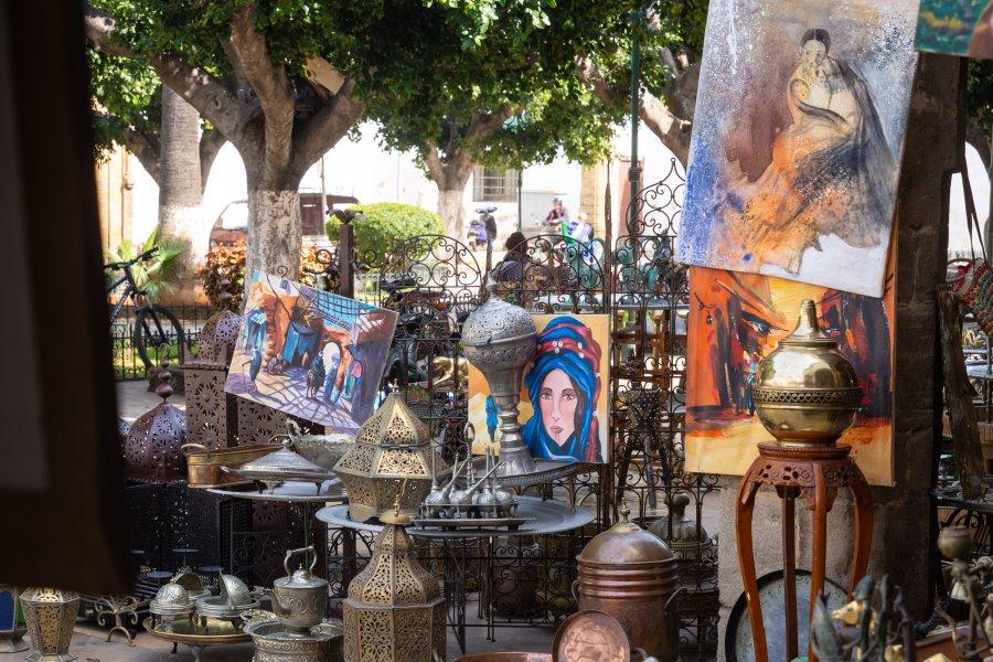 Artisanat dans le quartier des Habous à Casablanca