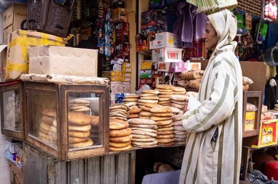Boutique de pain au Maroc