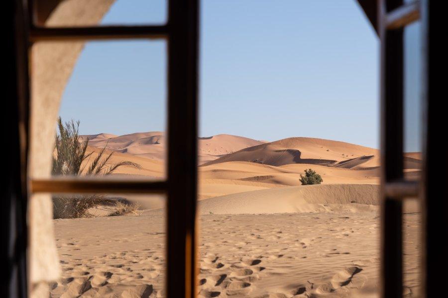 Chambre avec vue sur les dunes de Merzouga