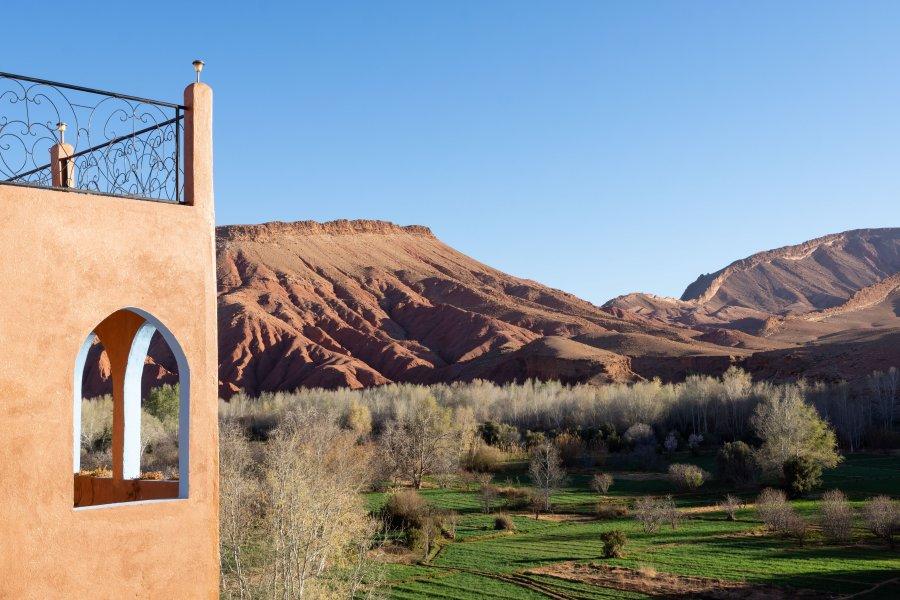 Montagne près de Dadès et Ouarzazate au Maroc