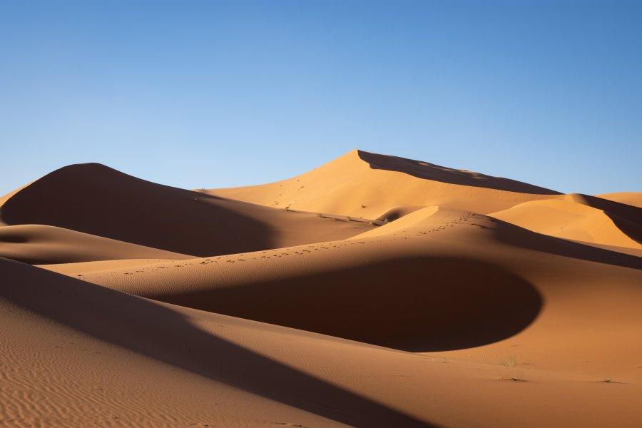 Les dunes de l'Erg Chebbi au Maroc
