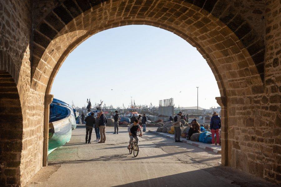 Port d'Essaouira au Maroc