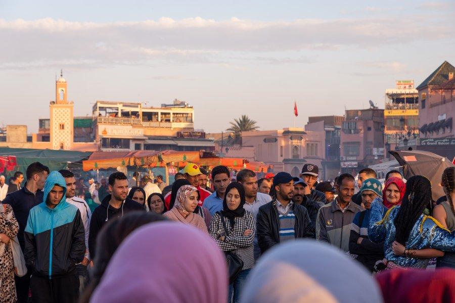 Place de Jema el Fnaa en soirée