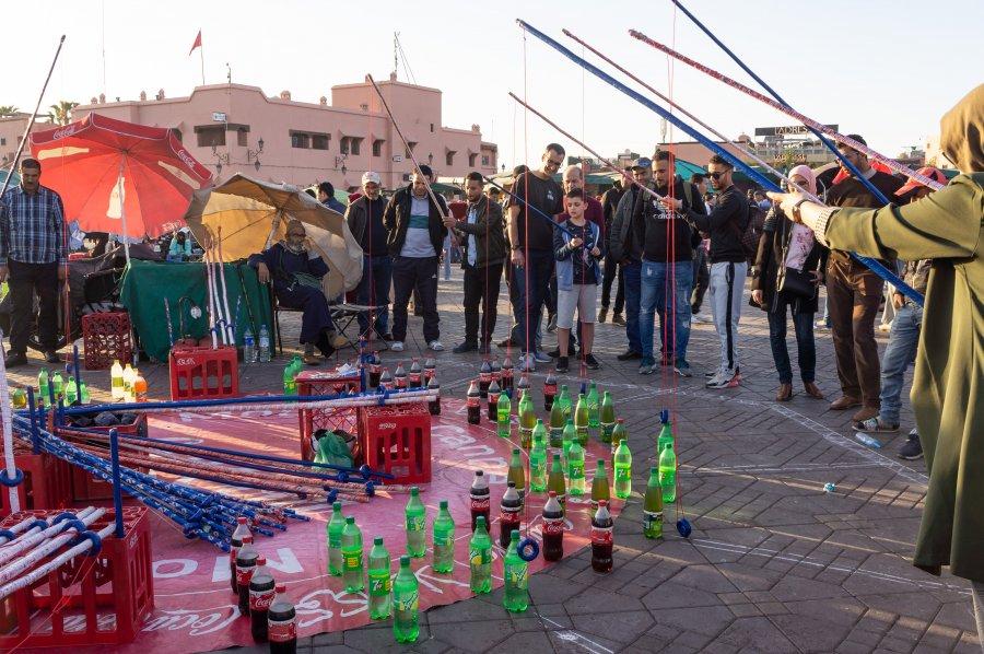 Jeu de bouteilles à Marrakech