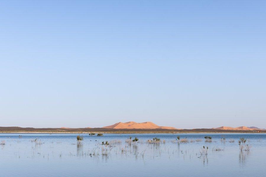 Lac Dayet Srij à Merzouga, Maroc