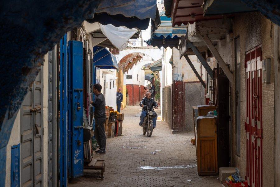 Ruelle de la médina de Rabat au Maroc