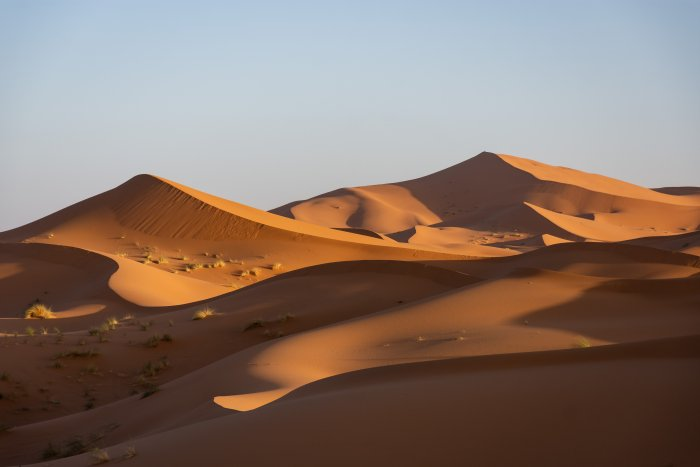 Dunes du Sahara à Merzouga, Maroc