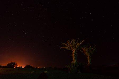 Le désert de Merzouga de nuit