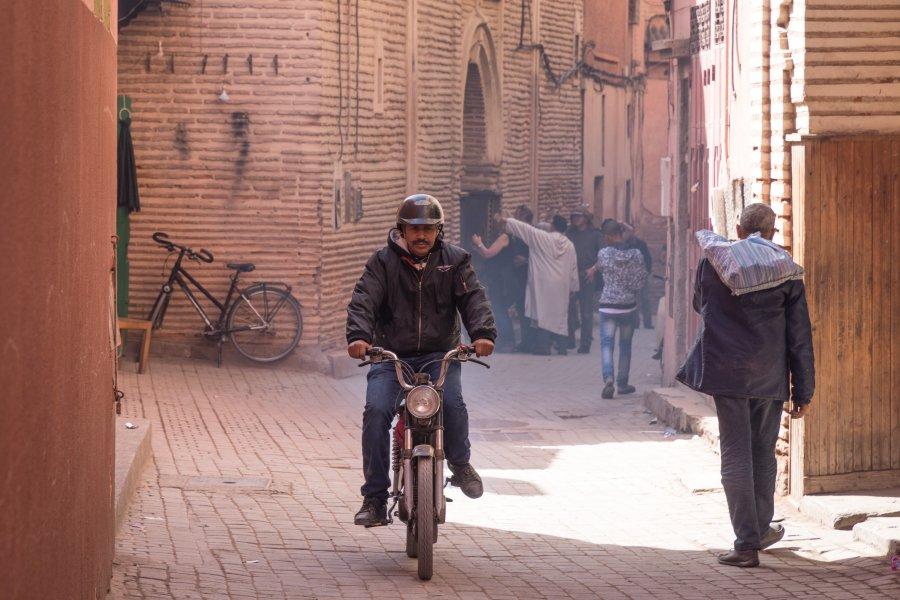 Mobylette à Marrakech au Maroc