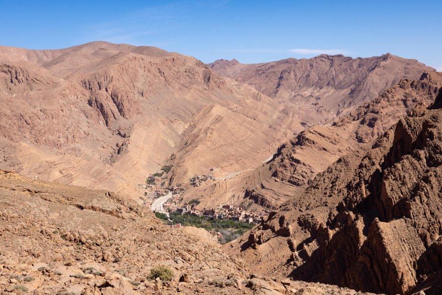 Montagnes, Tinghir, Maroc