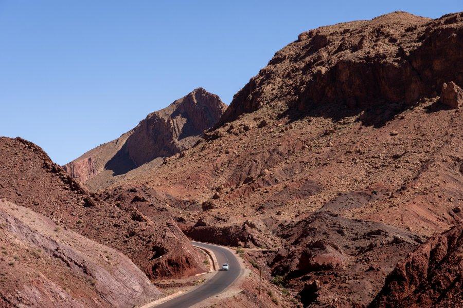 Montagnes près de Dadès, Ouarzazate, Maroc